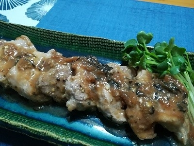 豚の梅肉ソース
